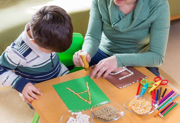 Rzemiosło alfabetu dla przedszkolaków