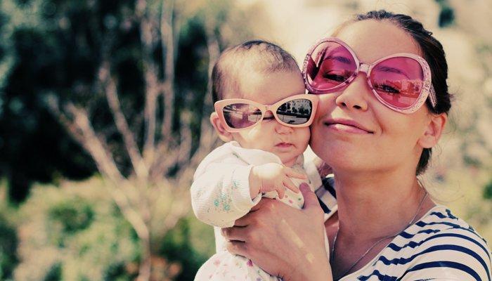 retro mama i dziecko