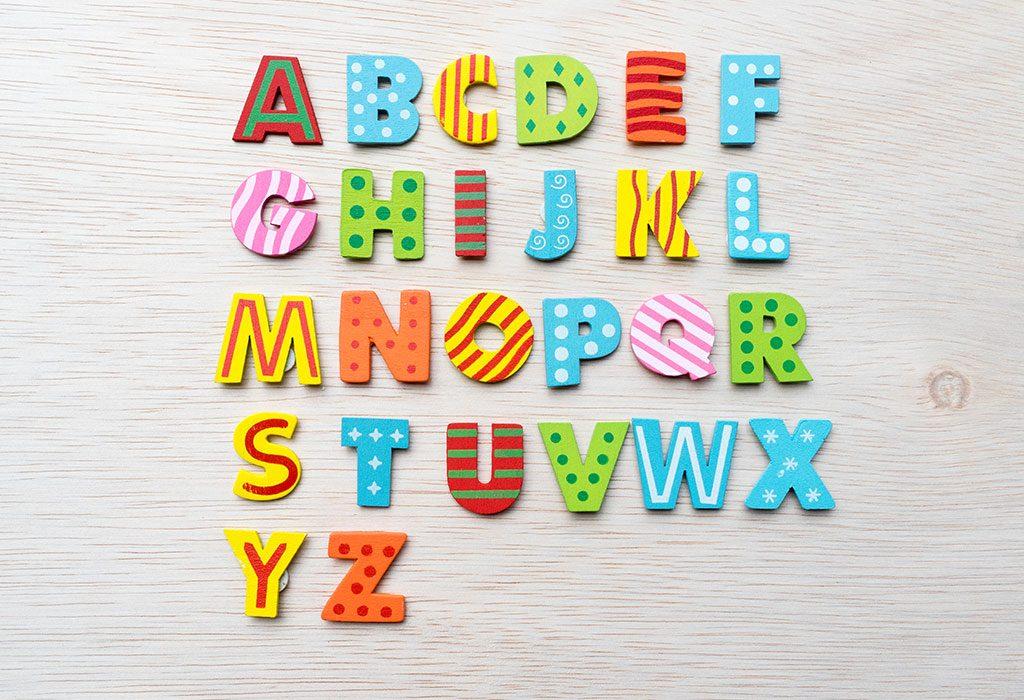 Alfabet na ścianie